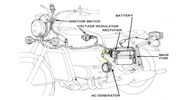 Cycle electric generator wiring diagram