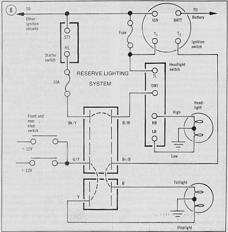 Lighting Diagram1 recommendations for new owners of a gl1000 randakk's blog gl1000 wiring schematic at bakdesigns.co