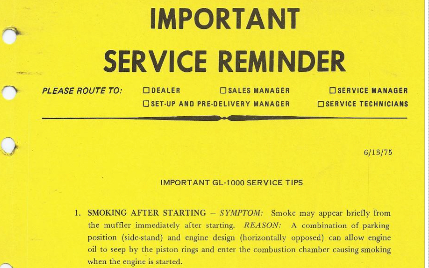 Smoke On Startup Service Bulletin