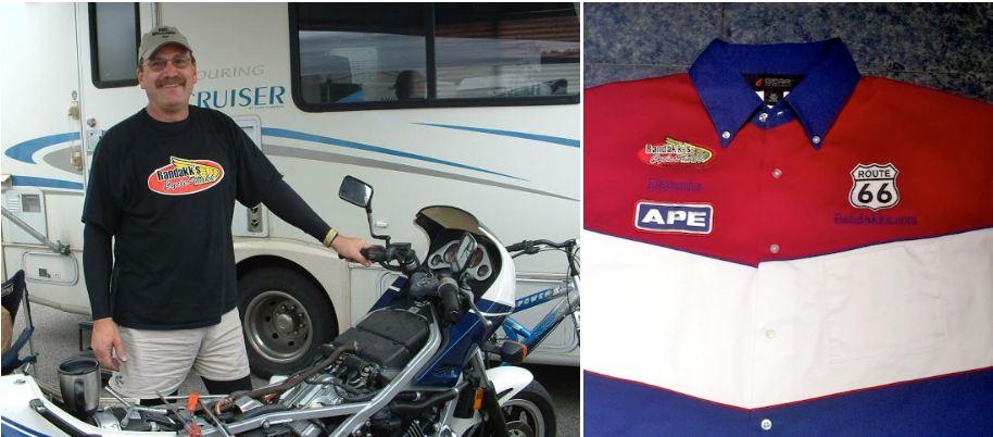 Dennis Parrish with Sponsors Shirt