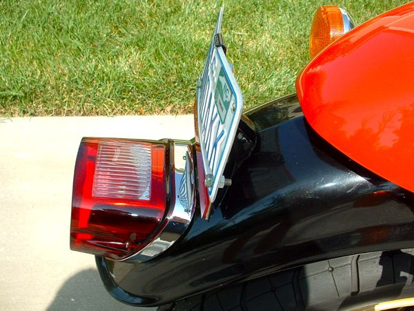Taillight and License Bracket