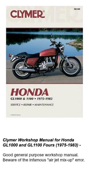 Clymer Workshop Manual for Honda GL1000 and GL1100 Fours (1975-1983)